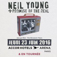 Neil Young en concert en France