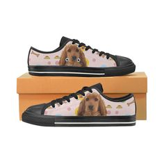 #TeeAmazing - #e-joyer English Cocker Spaniel Black Women's Classic Canvas Shoes - AdoreWe.com