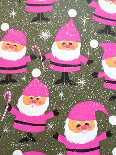 Cute Vintage Mid Century Christmas Santa Gift by PrettyVintageShop