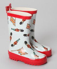 Perfect for little palace guards, these English-designed rain boots boast playful vintage graphics, a rain-proof outer and non-skid soles. 100% cottonTraction soleHand washImported