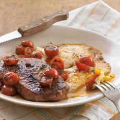 Steak and Eggs with Herbed Cherry Tomatoes