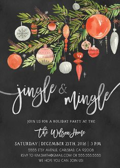 Holiday party invitation by KirraReynaDesigns