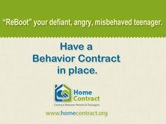"Finding a way to ""ReBoot"" your defiant, angry, misbehaved teenager?"
