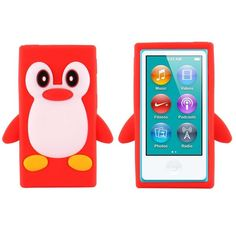 Happy Penguin (Rød) iPod Nano 7 Deksler Ipad Nano, Happy Penguin, Penguins, Ipod, Sony, Hot Pink, Samsung, Orange, Cover