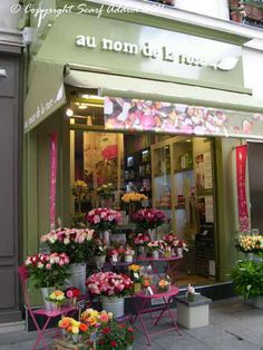 One of the many lovely flower shops in Paris