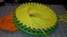 Loom knitted Jayne hat