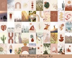 """Boho Photo Wall Collage Kit, 6x4"""" PRINTABLEA set of 50 instant download boho style photos/pictures.A selection of photos and abstract designs, all specially curated for the perfect aesthetic boho photo collage wall.Great decor for a teen room, dorm room, yoga room, or any room in the house. How you display them is entirely up to you! You might choose to frame them, or stick them directly onto the wall; overlap each picture, or leave space around them.All files are suitable for printing in 6x4"""" s Photo Wall Collage, Picture Wall, Wall Art Decor, Wall Art Prints, Aesthetic Room Decor, Aesthetic Art, Teen Room Decor, Free Prints, My New Room"""
