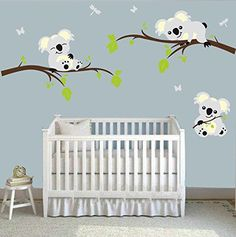 Large Koala Tree Branch Wall Decals DIY Wall Decals Peel and Stick Wall Sticker Nursery Baby Room Wall Stickers Wall Art Home Decor, x -- Learn more by visiting the image link-affiliate link. Baby Room Wall Stickers, Wall Stickers Home Decor, Wall Stickers Murals, Nursery Wall Decals, Wall Decal Sticker, Wall Vinyl, Koala Nursery, Personalized Wall Decals, Decoration
