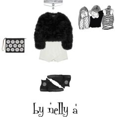 Look 207 by ada-nelli on Polyvore featuring мода, Diane Von Furstenberg, Converse, Marni and Wet Seal
