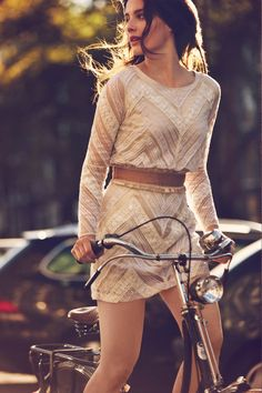 I want the light.  Free People January Catalog 2013 | Eleanor's | Stylish Bicycle Accessories