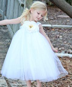 Love this White Ella Princess Dress - Toddler & Girls on #zulily! #zulilyfinds