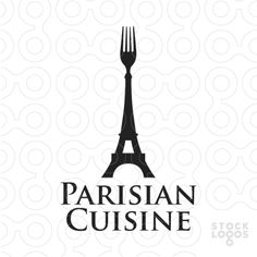 Exclusive Customizable Logo For Sale: Parisian Cuisine | StockLogos.com