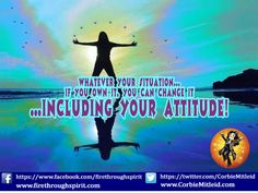 Only you can change your #attitude. #InspirationalQuotes