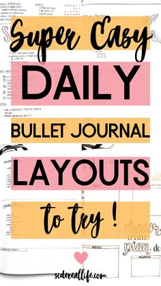 Looking for an easier way to create pretty daily bullet journal layouts? Read these awesome tips to save time & find ideas for your next daily bujo spreads! #bujo #bulletjournalspreads #dailybujo #bulletjournalcommunity