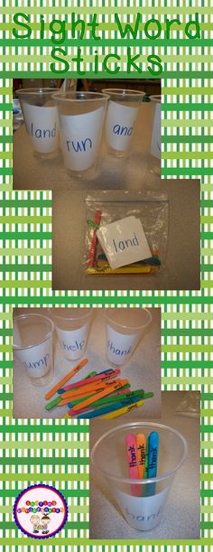 Sharing Kindergarten: Sight Word Sticks