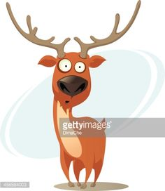 Cartoon deer : Vector Art