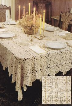 Pineapple Royale Tablecloth Crochet Pattern