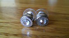 adoooorable: Hand made Clear Crystal swarovski bullet ear rings.. $20.00, via Etsy.