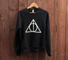 Pretty sure I need this. Deathly Hallows Sweater by SoEffingCute on Etsy