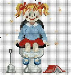 Cross Stitch Baby, Counted Cross Stitch Patterns, Le Point, Plastic Canvas Patterns, Cross Stitching, Beading Patterns, Needlepoint, Embroidery Designs, Needlework