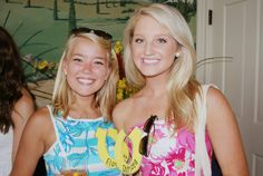 Chrisea, a Pink Daisy, with a sister at Bid Day!