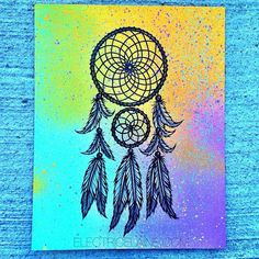 Art on pinterest watercolor portraits watercolors and for Dream catcher spray painting