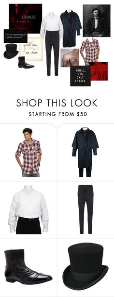 """Moncrief Fitch"" by manateemuffins on Polyvore featuring Rock & Republic, Ann Demeulemeester, men's fashion and menswear"