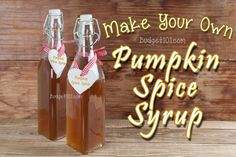 Pumpkin Pie Spiced Syrup