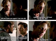 True Blood Season 6 - Eric Northman being awesome! I loved when Sookie staked Bill for Eric!