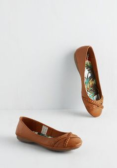 Band Another Thing Flat. Demonstrate your delight for detail in these banded ballet flats by Rocket Dog! #brown #modcloth