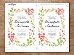 Image result for wedding invitations online watercolor floral