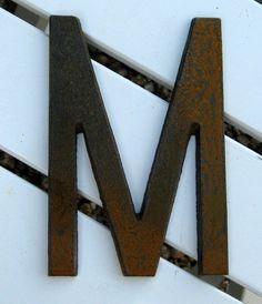 Industrial Metal Letter Munder 1000 bucks by junkgenius on Etsy, $6.00