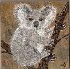 Koala Bear Tile Art Hand Painted