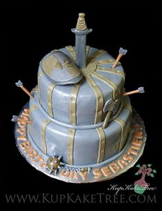 Cool Medieval Birthday Cakes On Pinterest Funny Birthday Cards Online Overcheapnameinfo