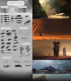 My painting brushes (Concept art, speedpainting) by SoldatNordsken.deviantart.com on @deviantART