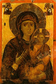 Theotokos 2 sided Icon - Hodegetria - front side