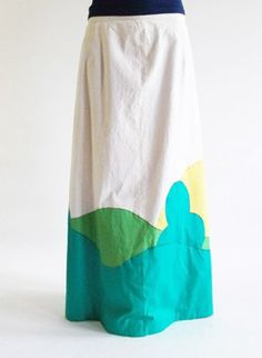 Patchwork 1960s maxi skirt @ www.secondhandnew.nl