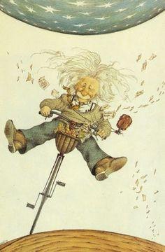 Creativity is intelligence having fun. ~Albert . Einstein. Literatura i art: caricatures d'escriptors de Tullio Pericoli