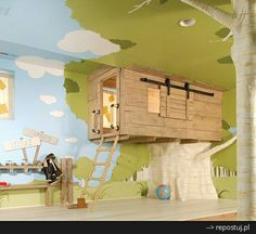 Tree house in room