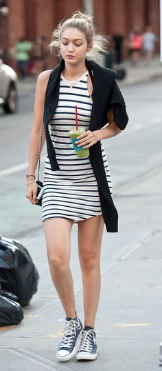 Gigi Hadid Wearing Converse.