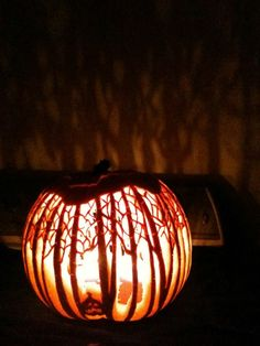 2013 entry via Karyn P. of Crowley, Texas. Think you've got what it takes to carve the perfect pumpkin? Enter the Pumpkin Masters 2014 Carving Contest, October 1st through 31st.