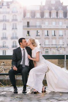 Parisian elopement. One & only Paris Photography.