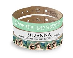 Why not even use the wristband motif for your festival wedding.