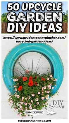 Diy Upcycled Garden Ideas, Diy Garden Projects, Diy Crafts To Do, Diy Arts And Crafts, Flower Planters, Garden Planters, Farm Day, Lush Lawn, Garden Care