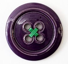 Purple Ceramic Button 3D Wall Art – Handmade with love from Greece