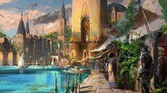dragon village, J.C Park on ArtStation at https://www.artstation.com/artwork/AbGQq