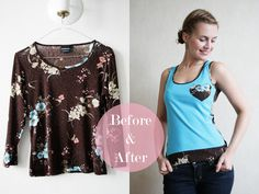 DIY IDEA - Refashionista: Upcycled tank top - Pearls and Scissors