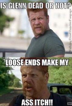 The Walking Dead funny meme Walking Dead Funny Meme, Walking Dead Quotes, Walking Dead Tv Series, The Walking Dead Tv, Rip Glenn, Funny Quotes, Funny Memes, Dead Zombie, Daryl Dixon