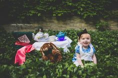 My daughter Mira in her Alice in wonderland tea party photoshoot with  Lindsay Stephany Photography i 08fbd61448b