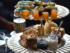 These six spots offer a range of tea services, from the traditional to the contemporary. Cream Cheese Pinwheels, Cake With Cream Cheese, Prawn Cocktail, Dried Blueberries, Profiteroles, Tea Sandwiches, Orange Slices